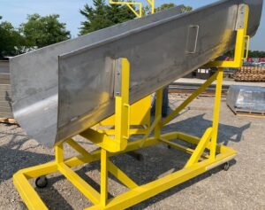 Stainless steel mobile package chute